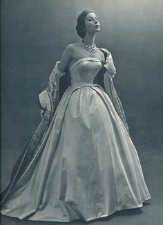 L`Officiel 1953 Ball gown by Hubert de Givenchy