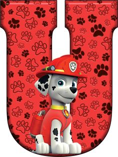 U Paw Patrol - Marshall Paw Patrol Cake, Paw Patrol Party, Paw Patrol Birthday, Dog Birthday, 4th Birthday Parties, Imprimibles Paw Patrol, Cumple Paw Patrol, Dalmatian Dogs, Cross Paintings