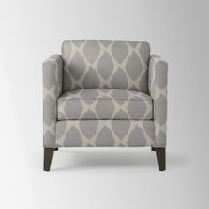 Dunham Down-Filled Armchair - Boxed (Prints) | west elm