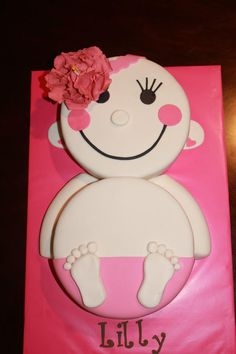 Baby Girl shower cake. I want to make this for someone!!!  Who's havin' a girl!!?