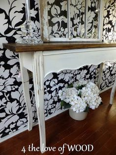 4 the love of wood: SOFA TABLE FROM A SEWING TABLE - parts used to build
