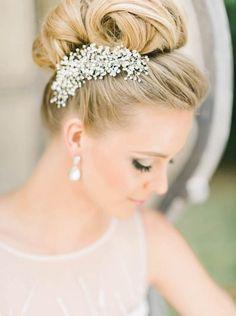 Featured Photographer: Elizabeth Fogarty; Wedding hairstyle idea.