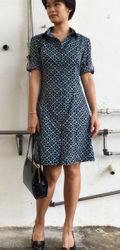 @starfishfingers' Rosa shirt dress - sewing pattern by Tilly and the Buttons