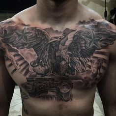 Mexican eagle tattoo