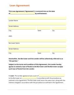 Loan Agreement Template  Microsoft Word Templates  Car Payment