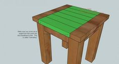 Match my coffee table.  Ana White | Build a Tryed Side Table |