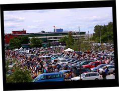 Sweden's largest car boot sale flea market in Stockholm at Täby Galopp