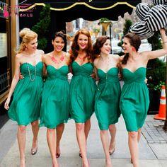 Mint green bridesmaid dresses Short Pleats Sweetheart Wedding guest Dress cheap bridesmaid dresses Wedding Dresses Z143