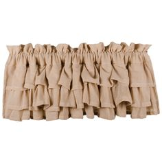 Heirloom Cream Ruffled Valance, by Raghu. Layers of gentle ruffles in a cream colored heirloom style cotton fabric add texture, neutral color, and romantic softness to your country farmhouse windows! Burlap Window Treatments, Farmhouse Window Treatments, Kitchen Window Treatments, Window Cornices, Farmhouse Valances, Farmhouse Windows, Farmhouse Decor, Country Farmhouse, Country Kitchen Curtains