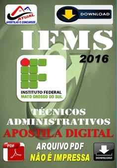 Apostila Digital Concurso IFMS Tecnicos Administrativos 2016