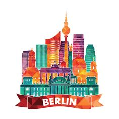 World city skylines part 2 on behance world cities, behance, urban, city sk Travel Photography Tumblr, Color Palette Challenge, City Drawing, City Icon, Berlin City, Travel Illustration, Graphic Illustration, Behance, Travel Icon