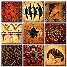 Cuadro Rompecabezas de ornamentos son 9 piezas que puedes combinar y cambiar como te gusta y colgarlas en la pared en formas diferentes ツ