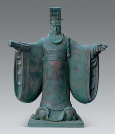 14汉武帝-王洪亮-孙玉敏-(北京)-200 cm × 185 cm × 210 cm-雕塑-2016