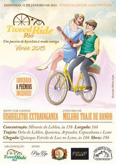 Cartaz da edição verão 2015 do Tweed Ride Rio!