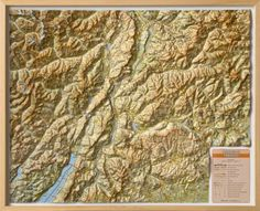 Trento Province Raised Relief Map