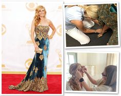 Beautycounters fabu VP of Creative Design, Christy Coleman, helps prep Connie Britton for the Emmys!  #beautycounter #safeskincare #beauty https://seattle.beautycounter.com/Home