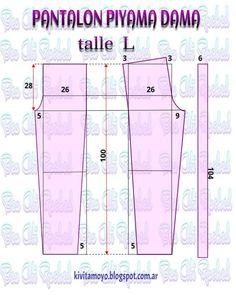 Blog de patronaje y diseño Easy Sewing Patterns, Sewing Tutorials, Clothing Patterns, Sewing Projects, Pajama Pattern, Pants Pattern, Underwear Pattern, Sewing Blouses, Sewing Pants
