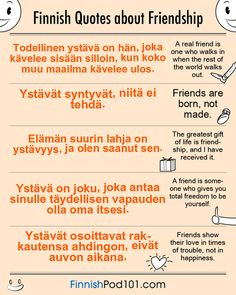 Finnish Quotes About Friendship French Quotes About Friendship, Famous French Quotes, Happy Friendship Day Quotes, Learn Finnish, Learn German, Learn French, One Word Caption, Finnish Language, French Language