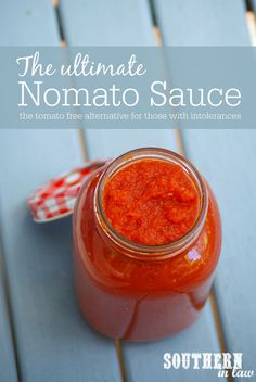 The Ultimate Nomato Sauce Recipe - tomato free nightshade free tomato intolerance nightshade intolerance gluten free vegan egg free dairy free nut free allergy friendly recipes Sauce Recipes, Diet Recipes, Vegan Recipes, Cooking Recipes, Cooking Tips, Recipies, Nomato Sauce Recipe, Autoimmun Paleo, Nightshade Free Recipes