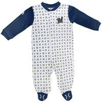 Milwaukee Brewers Newborn White Lil' Fan Coverall