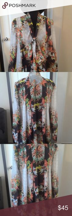 NEW GORGEOUS JUST CAVALLI  BLOUSE NWOT Gorgeous JUST CAVALLI Flirty Floral Blouse.Eur Size 42. Just Cavalli Tops Blouses