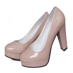 2016 НОВЫЕ Весенние и Осенние одиночные туфли на высоком каблуке водонепроницаемый ню цвет туфли на высоком каблуке свадебная обувь DFGD F 219 купить на AliExpress