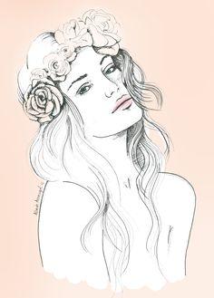alba de armengol fashion illustration girl