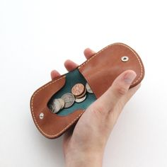 MOTO LEATHER COIN CASE C1 BLUE