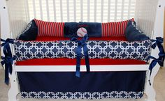 Custom baby bedding 3 pc set BASEBALL Karson set by BabiesNBaubles, $345.00
