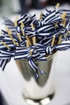 Darling DYI drink stirers, you could do any number of colored ribbons, even red, white & blue!!!!!     Party Resources