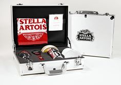 Custom Product Launch Kits, Press Kits by Sneller.  Custom Promotional Packaging.  Custom Marketing Materials.  www.snellercreative.com.  Stella Artois Welcome Kit Briefcase by Jeff Snell, via Behance