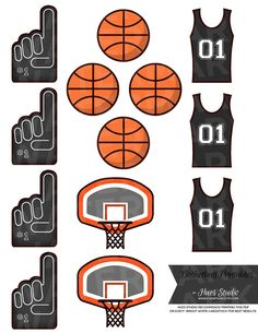 13 Black BASKETBALL Printables! by Hues Studio Printables