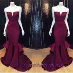 Ball gowns wedding dress, 2016 purple chiffon mermaid senior prom dress