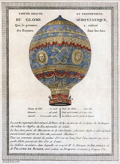 Les Frères Montgolfier :  On September 19 th, 1783, it is thus in Versailles in front of Louis XVI that takes place the demonstration with a sheep, a duck and a cock as passengers. They were locked into a wicker round basket hung on by a rope on the balloon. Once released, this one rose to a height estimated by 500 meters. Handicaped by a tear caused at first, the balloon steals eight minutes and travels three kilometers five hundred.