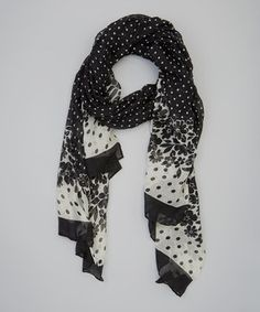 Black & White Floral Scarf by Bubbly Bows #zulily #zulilyfinds
