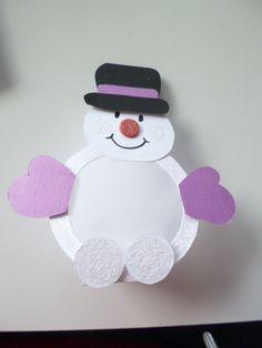 kerstdecoratie, sneeuwpop, kan een (led) waxinelichtje achter de buik