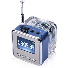 Novelty Bedside Radio Multi-Function Gadget Mini Music Player Transparent Classic Style Suit for Travel Camping Picnic Relax in the garden Outdoor Activities etc. Best Gift L7e1 -- You can find more details by visiting the image link. (This is an affiliate link) #PortableBluetoothSpeakers