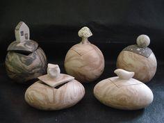 """Potes da coleção:"""" Porque a minha casa é o meu planeta""""...- Nerikomi e miniaturas: www.artbydarlene.elo7.com.br"""