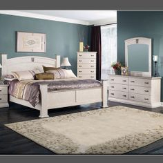 Torina Traditional Cream Wood 5pc Bedroom Set w/King Sleigh Bed ...