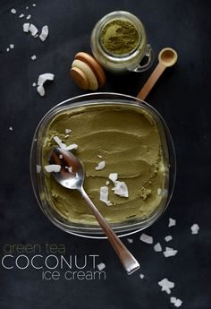 Green Tea Coconut Ice Cream - http://minimalistbaker.com/green-tea-coconut-ice-cream/