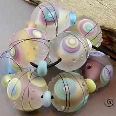 Magma Beads ~Soft Pastel minis~ Handmade Lampwork Beads.