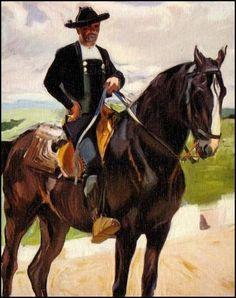 Charro a caballo. 1912