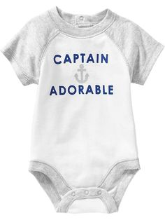 Nautical-Graphic Bodysuits for Baby Product Image