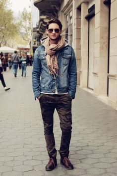 If he is here with me, I'd like to dress him like this, so cool and handsome.