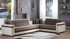 Istikbal Moon Sectional Sofa Bed in Platin Mustard