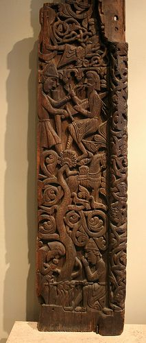 JOJO POST STAR GATES: Fragment of a portal, Sigurd Fafnir's bane, Hylestad Stave Church Medieval Norway about 1175 CE
