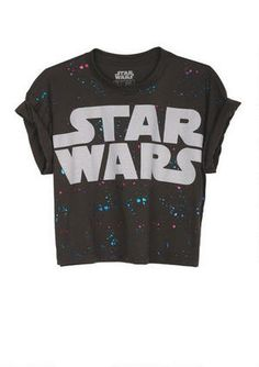 splatter star wars crop tee at HelloShoppers