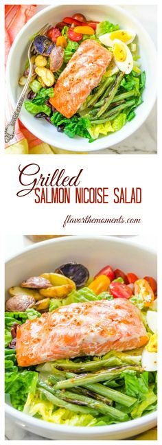 grilled-salmon-nicoise-salad-collage | flavorthemoments.com