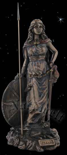 Freyja statue bronze