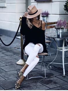 black and white outfit | street style | fashion